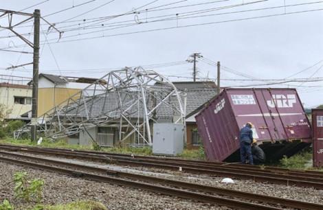 Hệ thống tàu điện và nhiều tuyến hàng không phía tây Nhật Bản tê liệt vì bão Tapah