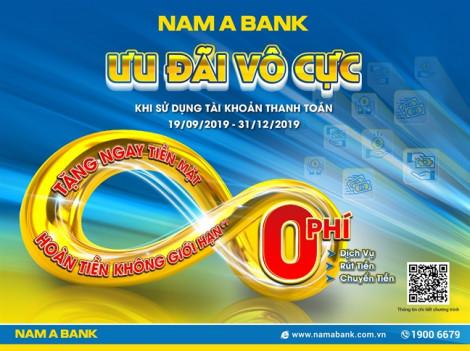 Mở tài khoản thanh toán tại Nam A Bank được miễn hàng loạt phí giao dịch