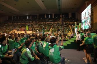 Hàng ngàn tài xế Grab 2 bánh hào hứng tham gia buổi họp mặt định kỳ