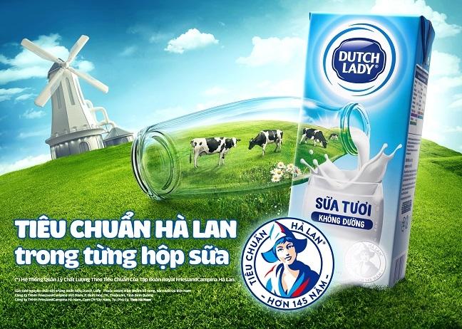 Do an toan cua sua tuoi Co Gai Ha Lan tang tu 10 len 11 lan so voi chuan Viet Nam