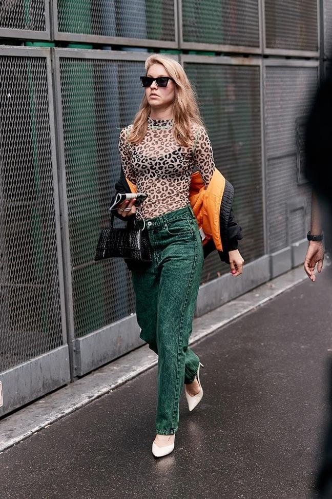 Hoc cac fashionista tai Paris 'len do' mua thu sanh dieu
