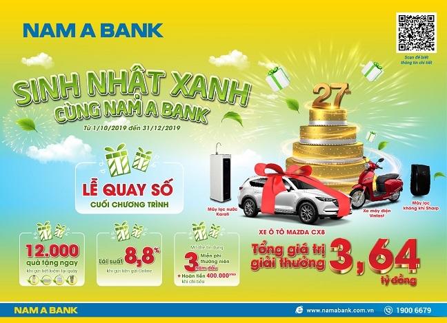 Co hoi ruoc xe sang mung sinh nhat Nam A Bank