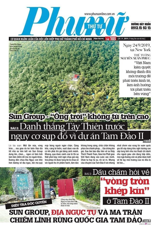 Vi sao du luan day song khi Bao Phu Nu TP.HCM 'dung den Sun'?