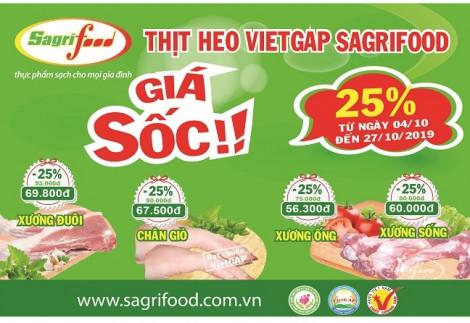 Sagrifood tung chương trình giảm giá sốc 25%