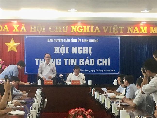 Tinh uy Binh Duong thong tin vu ban 43ha dat cong khong qua dau gia
