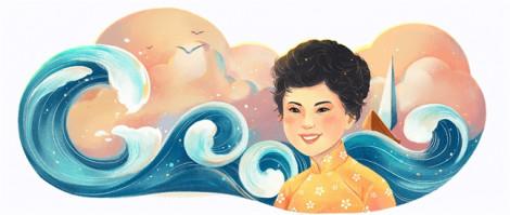 Cố nhà thơ Xuân Quỳnh được Google vinh danh