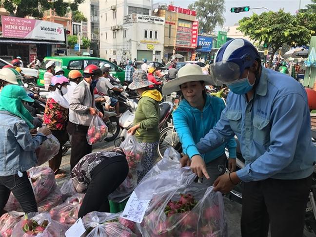 20 nguoi Trung Quoc 'nam'  thi truong thanh long Binh Thuan