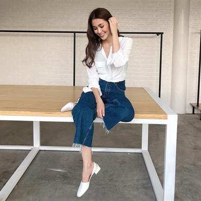 Muon kiẻu 'hack' dáng vói quàn jean của mỹ nhan Viẹt