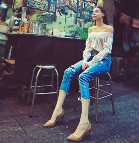 Muôn kiểu 'hack' dáng với quần jean của mỹ nhân Việt