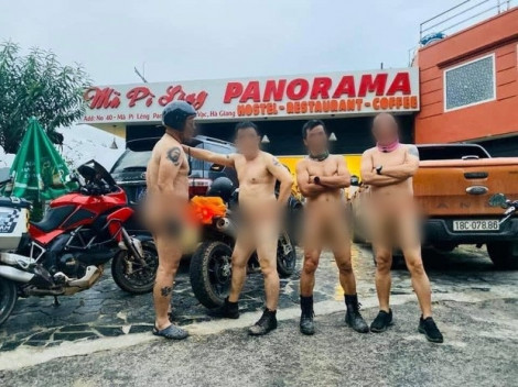 Yêu cầu xác minh thông tin nhóm đàn ông khỏa thân trên đỉnh Mã Pì Lèng
