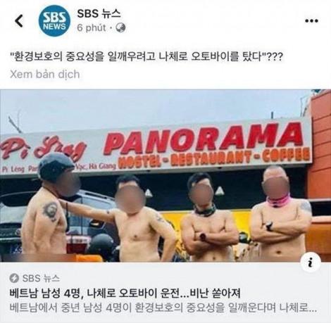 Nhóm đàn ông khỏa thân ở Mã Pì Lèng bị báo chí Hàn Quốc chỉ trích