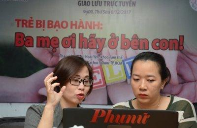 Giao lưu trực tuyến: Trẻ bị bạo hành - Ba mẹ ơi hãy ở bên con!