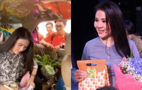 Nghệ sĩ Thanh Ngân bị chặn xe để... tặng quà