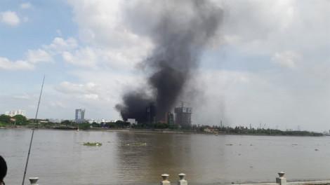 Cháy tại dự án Empire City trong khu đô thị Thủ Thiêm