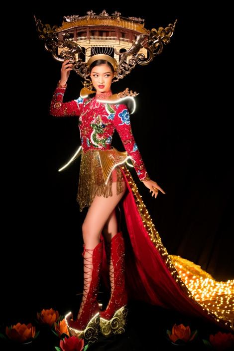 Bật mí mẫu trang phục truyền thống Á hậu Kiều Loan mang đến 'Hoa hậu Hoà bình Quốc tế 2019'