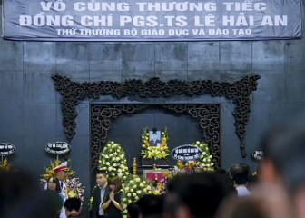 Tiễn đưa cố Thứ trưởng Bộ GD-ĐT Lê Hải An