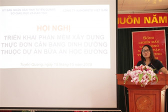 Nhân rộng áp dụng dự án Bữa ăn học đường đến tỉnh Tuyên Quang