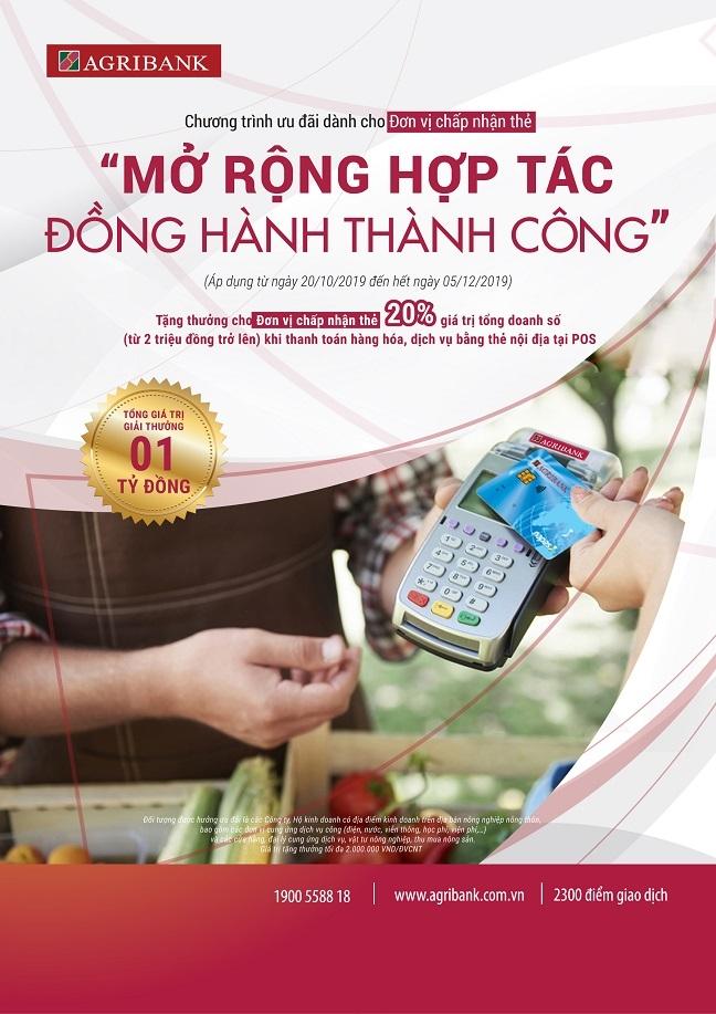 Agribank cung don vi chap nhan the 'mo rong hop tac, dong hanh thanh cong'