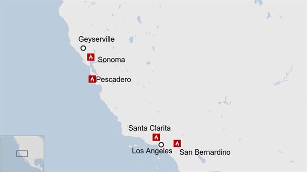 Chay khoang 6.500 ha rung o California, hon 40.000 nguoi thao chay