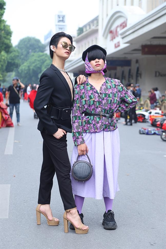 Thoi trang diem dua cua gioi tre Ha Thanh tại Tuan le thoi trang thu dong Viet Nam
