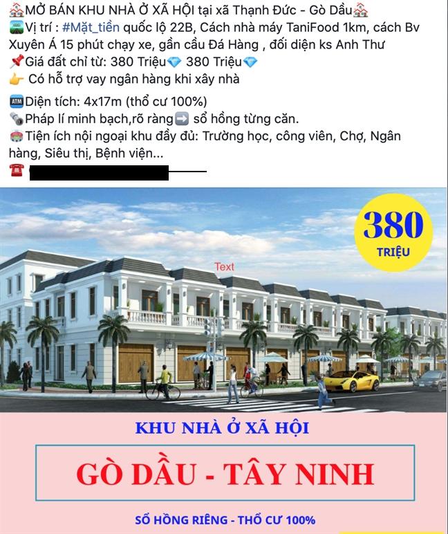 Tap doan Bat dong san 5 sao va Cong ty Bat dong san Dat Phuong Nam den Tay Ninh ban du an 'ma'