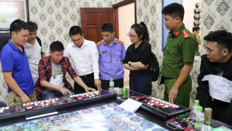 Công an tỉnh Bắc Ninh triệt phá 5 tụ điểm cờ bạc của người Trung Quốc