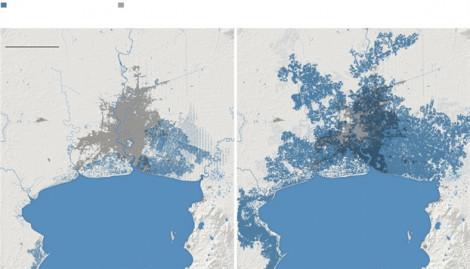 Cuộc sống của 300 triệu người bị đe dọa bởi nước biển dâng vào năm 2050