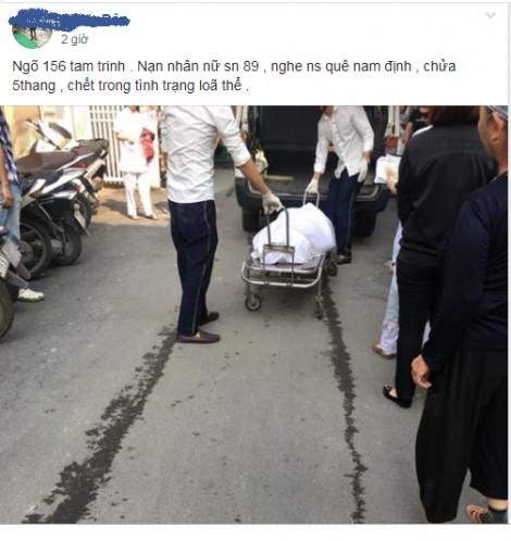 Người phụ nữ mang thai tử vong tại nhà trọ