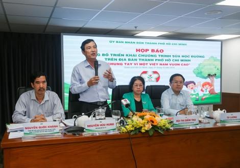 Công bố triển khai chương trình sữa học đường trên địa bàn TP.HCM 'Chung tay vì một Việt Nam vươn cao'
