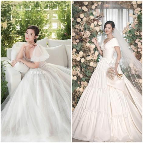 10 thiết kế váy cưới lộng lẫy của sao Việt