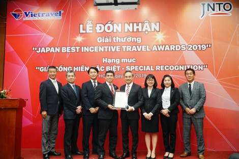Vietravel nhận giấy khen cống hiến đặc biệt của Nhật