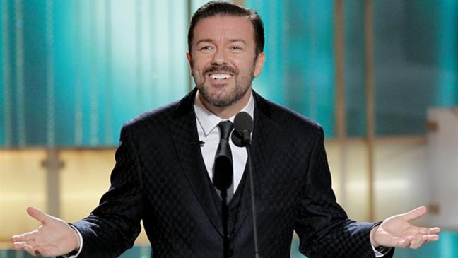 Dien vien hai Ricky Gervais lan thu 5 dan Qua cau vang