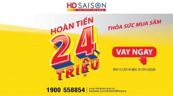 Thỏa sức mua sắm với ưu đãi hoàn tiền của HD SAISON