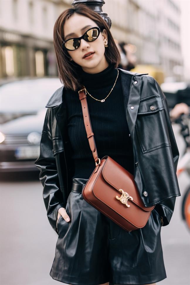 A hau Ha Thu mix do chuan fashionista dao pho Paris