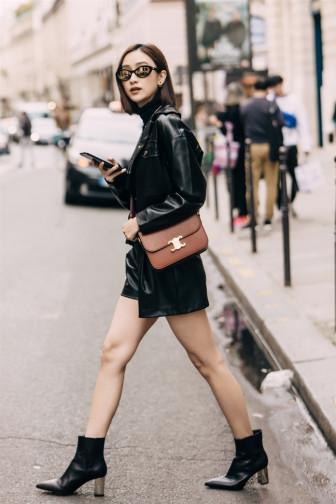 Á hậu Hà Thu mix đồ chuẩn fashionista dạo phố Paris