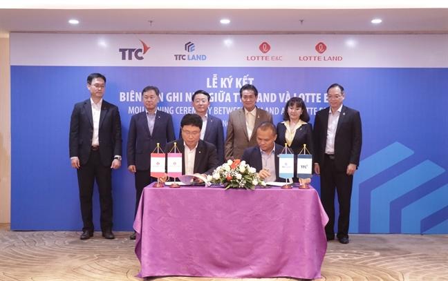 Lotte E&C se dau tu 100 trieu USD cung TTC LAND phat trien du an
