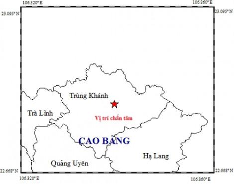 Sáng nay (28/11), Cao Bằng xảy ra động đất 4,7 độ Richter
