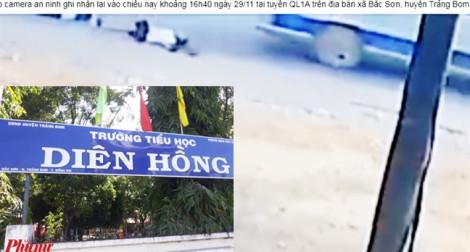 Xe đưa đón làm rớt học sinh ở Đồng Nai đã hết hạn đăng kiểm