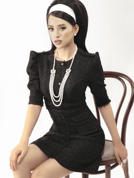 Mặc trang phục vải tweed thời thượng cùng Hoa hậu Tiểu Vy
