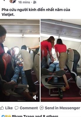 Vietjet Air cap cuu hanh khach nghi dot quy ngay tren may bay