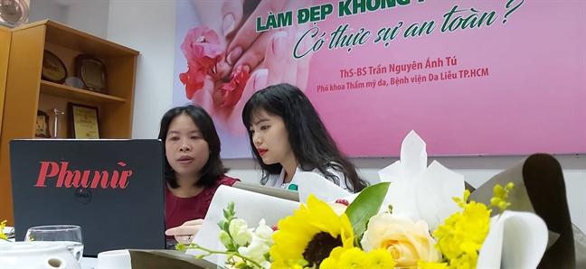 Giao luu truc tuyen: Lam dep khong phau thuat co thuc su an toan?