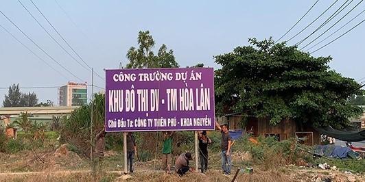 Bac tu cach chu dau tu du an Khu dan cu Hoa Lan doi voi Cong ty Kim Oanh