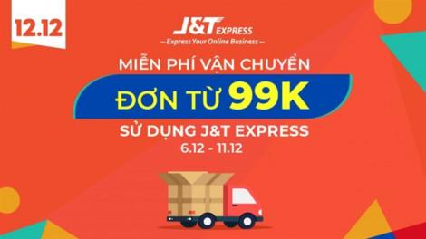 J&T Express miễn phí vận chuyển cho đơn hàng từ 99.000đ