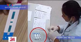Bệnh viện Xanh Pôn phủ nhận việc cắt đôi que thử khi xét nghiệm