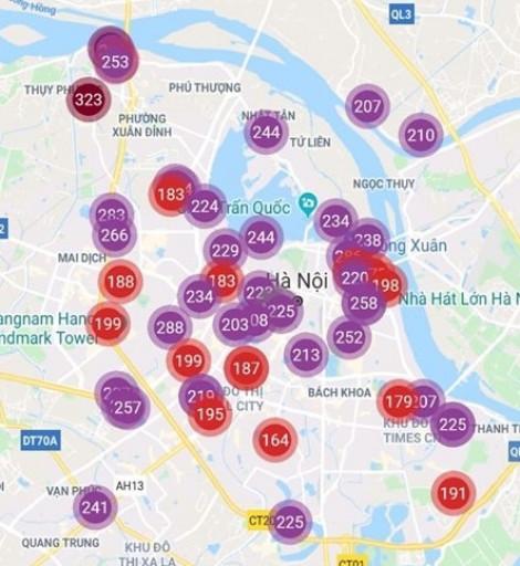 Không khí Hà Nội ô nhiễm ở mức nguy hại trong nhiều ngày qua