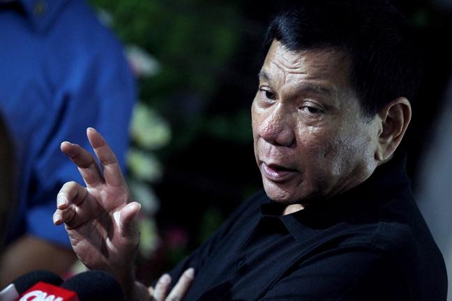 Ong Duterte se mung Giang sinh 'don gian' o que nha
