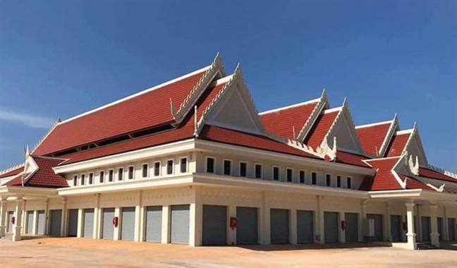 Khanh thanh ngoi cho do Viet Nam tai tro xay dung o Campuchia