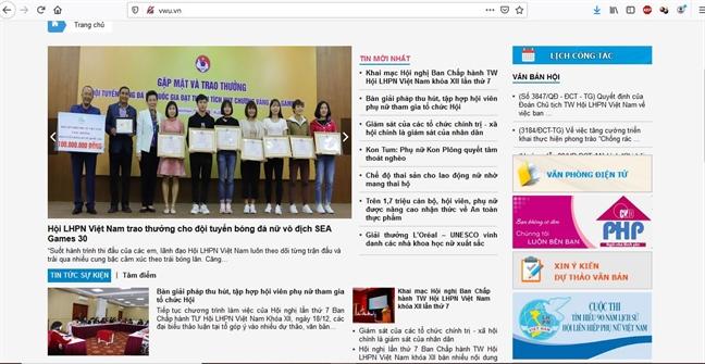 Hoi LHPN Viet Nam da co Cong Thong tin dien tu