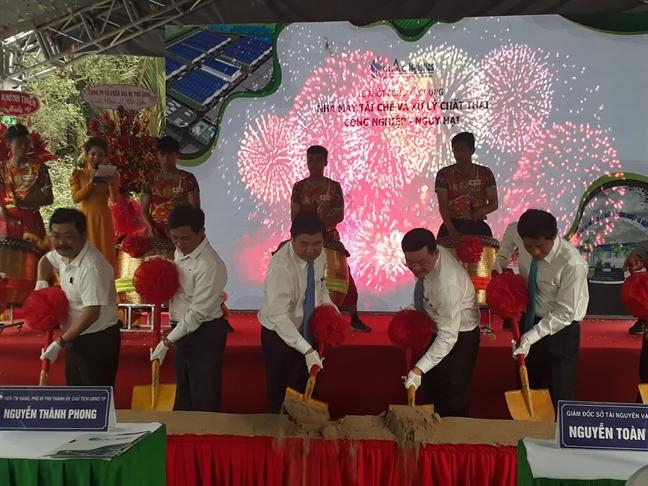 TPHCM khoi cong du an xu ly rac thai ran cong nghiep va nguy hai dau tien