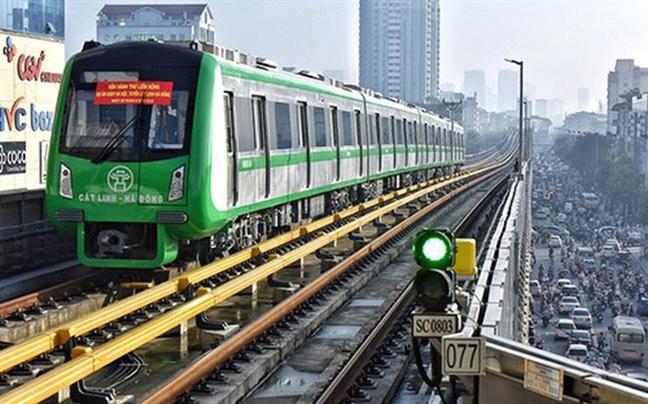 Cap chung nhan kiem dinh tam thoi cho 13 doan tau cua duong sat tren cao Cat Linh - Ha Dong